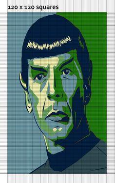 Mr. Spock cross stitch pattern