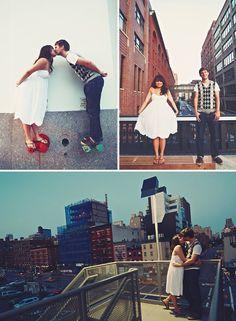 Engagement Photos in Brooklyn | Green Wedding Shoes Wedding Blog | Wedding Trends for Stylish + Creative Brides