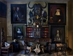 London's historic Malplaquet House is widely regarded as one of the city's most unusual residences: the 18th-century Georgian mansion is a cabinet of curiosities in the truest sense, filled with objets that include human skulls, taxidermic dachshunds and ancient Egyptian religious relics.  Photo by Barry Lewis.