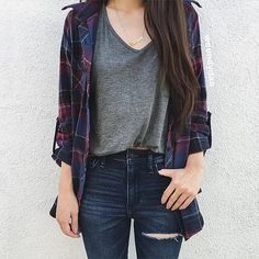 How to wear flannel in the summer casual outfits 20 Super ideas Casual Summer Outfits, Simple Outfits, Trendy Outfits, Cool Outfits, Cute Flannel Outfits, Heels Outfits, Teen Fashion Outfits, Cute Fashion, Outfits For Teens