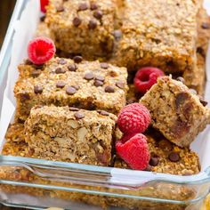 Clean Baked Banana Nut Oatmeal dates flaxseed applesauce milk Bars