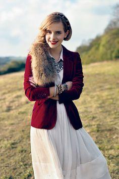 Love this minus the fur. Emma Watson has excellent taste.