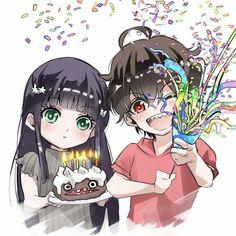 Benio e Rokuro Anime Chibi, Kawaii Anime, Manga Anime, Anime Art, Sousei No Onmyouji Benio, Adashino Benio, Rokuro And Benio, Twin Star Exorcist, Slayer Anime