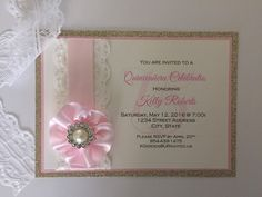 A personal favorite from my Etsy shop https://www.etsy.com/listing/265217624/vintage-invitation-wedding-quinceanera