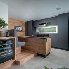 Kitchen Room Design, Home Decor Kitchen, Interior Design Kitchen, Kitchen Furniture, Furniture Design, Chalet Design, House Design, Beds Are Burning, Luxury Interior
