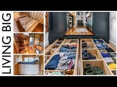 Top Storage Ideas For Tiny Homes - YouTube Storage Spaces, Storage Ideas, Best Tiny House, Tiny Spaces, Tiny House Living, Tiny House Design, Small Space Living, House On Wheels, Home Goods