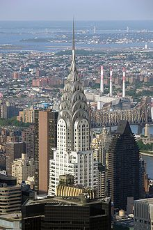 The Chrysler Building located in the Turtle Bay area , Manhattan , is an Art Deco skyscraper and a iconic image of New York City . Chrysler Building, New York City, Art Nouveau, Art Tumblr, Lexington Avenue, Examples Of Art, Design Furniture, Queen Mary, Architecture
