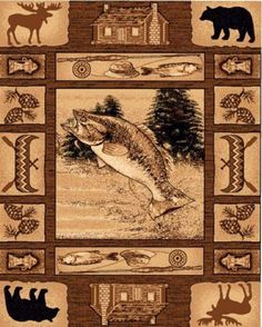 Now Get This Amazing Lodge Area Rug With Great American Outdoors Natural Theme Lahomefashion