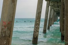 Surfers through the Pier by BartonBishop on Etsy, $6.00