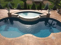 This pool deck was resurfaced with our Tuscan trowel system and then stained