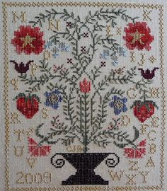 Quilting blackbird designs cross stitch on pinterest for Blackbird designs strawberry garden