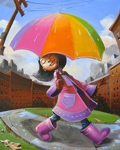 """Strollin', Cutest Kidz Collection"" by Frank Morrison Black Girl Art, Black Women Art, Art Girl, Art Et Illustration, Illustrations, African American Art, African Art, Caricatures, Frank Morrison Art"