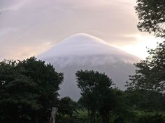 Cloud shrouded Volcan Concepion on Ometepe
