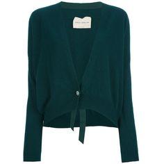 ERIKA CAVALLINI SEMI COUTURE long-sleeved cardigan ($215) ❤ liked on Polyvore