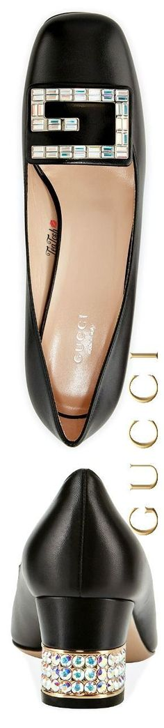❈Téa Tosh❈ Gucci Madelyn 55mm Leather Pump #Gucci #teatosh