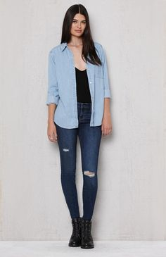 PacSun Yellowstone Ripped Low Rise Skinny Jeans