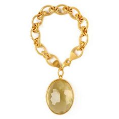 """GHALYA JEWELS: Gold Plated Charm Bracelet- It will add """"charm"""" to any outfit! £470 @gift-library.com #charmbracelet #bracelet"""