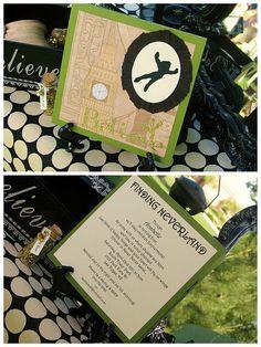Peter Pan Invitation, so cute