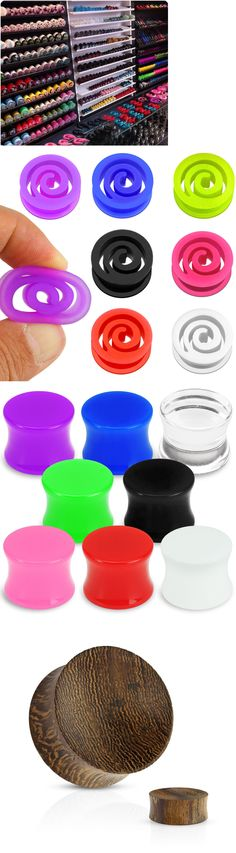 Body Piercing Jewelry 32050: Wholesale Lot Plugs, Tunnels Body Jewelry, 12G-1 , Wood, Silicone, Acrylic, 316L -> BUY IT NOW ONLY: $36.99 on eBay!