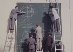 Back before calculators were invented, NASA engineers had to write everything out by hand on massive chalkboards to send man to the moon.