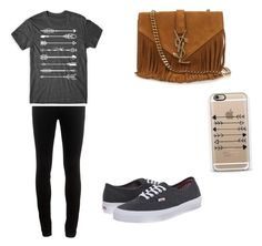 """""""A day in town"""" by ilovehorses5 ❤ liked on Polyvore featuring rag & bone, Casetify, Yves Saint Laurent and Vans"""