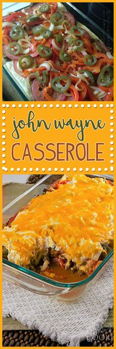 Have you ever heard of John Wayne Casserole? There's an interesting story, but what's important is that this beef and biscuit casserole is delicious!
