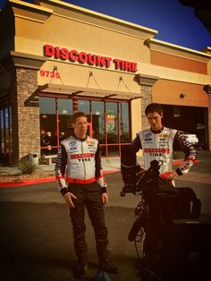 Brad and Joey shooting a Discount Tire Commercial.
