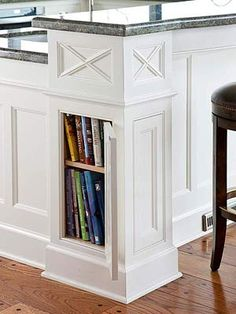 Concealing Columns - perfect for cookbooks (Or if you ever find yourself in a Fahrenheit 451 situation... eh, Montag?)