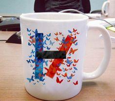 Butterfly Art Twenty One Pilots Logo Ceramic Mug #ceramic mug #mug #funny mug #coffee mug #custom mug