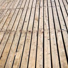 Wood deck finish will fade over time.