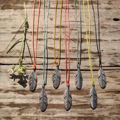 Beach Feather Charm Necklace by Gypsy Soul Jewellery