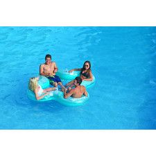 Lucky Lounge 4 Person Pool/Lake Party Float