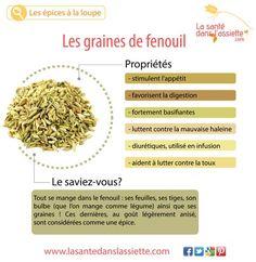 La Santé dans l'Assiette: Fiche pratique - Les graines de fenouil