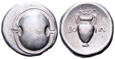 AR Stater. Greek, Boeotia, Thebes. Circa 395-387 BC. 23mm, 11,83g. BCD Boiotia 6-8. Good VF. Price realized (2.7.2016): 262 EUR.