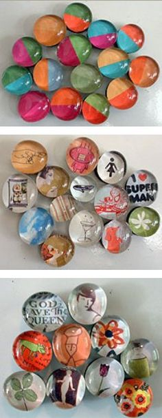 How to make marble magnets.