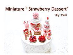 """""""딸기 디저트 미니어쳐"""" 만들기 Polymerclay (fimo & sculpey) """"Strawberry dessert"""" Mini..."""
