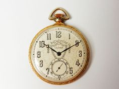 Antique Waltham Colonial Gold Pocket Watch Mint Serviced #WalthamColonialPocketWatch #Goldpocketwatch