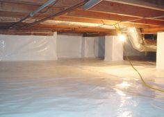 Protect your hardwood floors by waterproofing crawlspaces. #HomeSafe tips from #FamilyWaterproofing