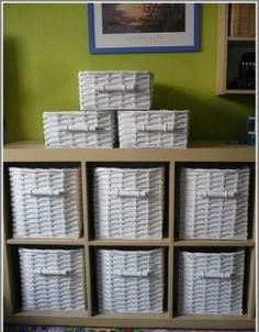 Papírból font fiókok - Színes Ötletek