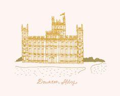 Downton Abbey Illustration