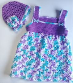I'm selling Toddler's Purple and Multi Sundress with Matching Hat - $35.00 #onselz