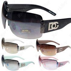 New Womens DG Sunglasses Eyewear Designer Shades Fashion Black White Large Size | eBay