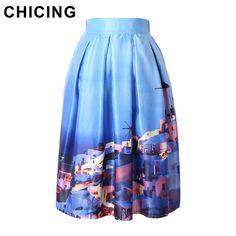 City House Painting Printed Satin Skirt Vintage Only $19.99 => Save up to 60% and Free Shipping => Order Now! #Skirt outfits #Skirt steak #Skirt pattern #Skirt diy #skater Skirt #midi Skirt #tulle Skirt #maxi Skirt #pencil Skirt