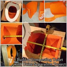 """Build a Composting Toilet with Urine Separation Project Homesteading  - The Homestead Survival .Com     """"Please Share This Pin"""""""