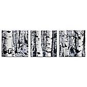 Aspen Triptych Contemporary Metal Wall Art in Black/White