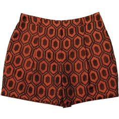 BURBERRY LONDON Diamond Jacquard Shorts ($145) ❤ liked on Polyvore
