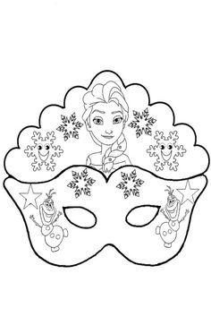Elsa and Olaf: Free Printable Mask Template Elsa Frozen, Elsa Olaf, 3d Paper, Paper Crafts, Karneval Diy, Olaf Party, Carnival Crafts, Printable Masks, Free Printable