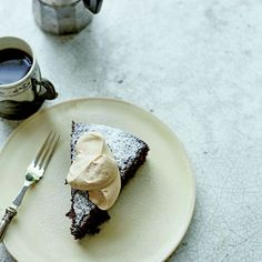 Bitter Flourless Chocolate Cake with Coffee Cream Recipe on Food52 recipe on Food52