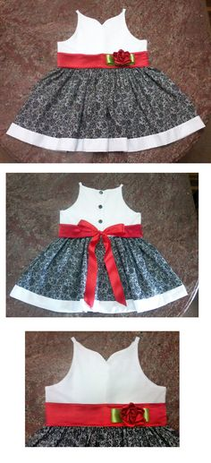 Vestido Natal Tropical - Tropical X-mas dress Baby Dresses, Little Dresses, Girls Christmas Dresses, Towels, Cheer Skirts, Cloths, Poppies, Little Girls, Stitching