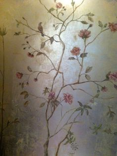 By Kari Caldwell and her partner Jeanette - hand-painting over Lusterstone silver leaf finish.  Love!!